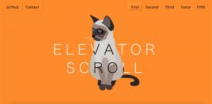 HP制作ツール「elevator_scroll.js」を開発
